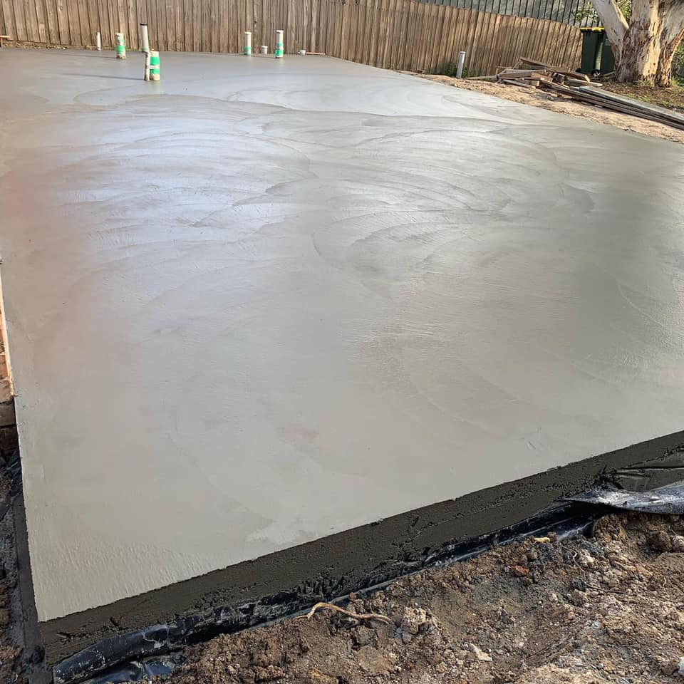 House Slab Laid with Plumbing
